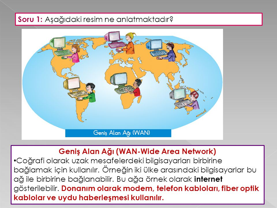 Geniş Alan Ağı (WAN-Wide Area Network)