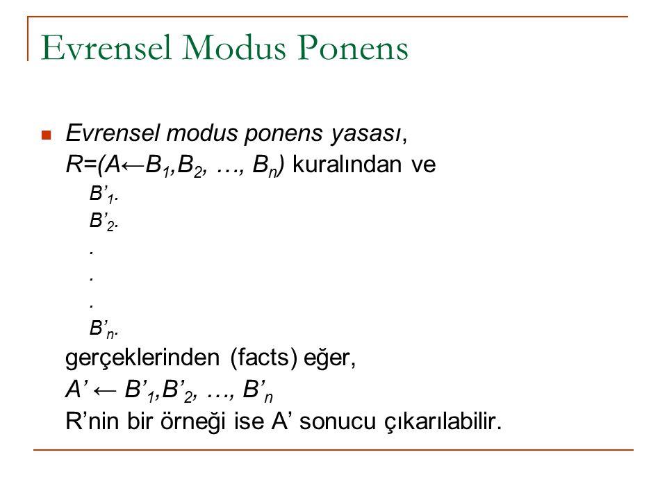 Evrensel Modus Ponens Evrensel modus ponens yasası,