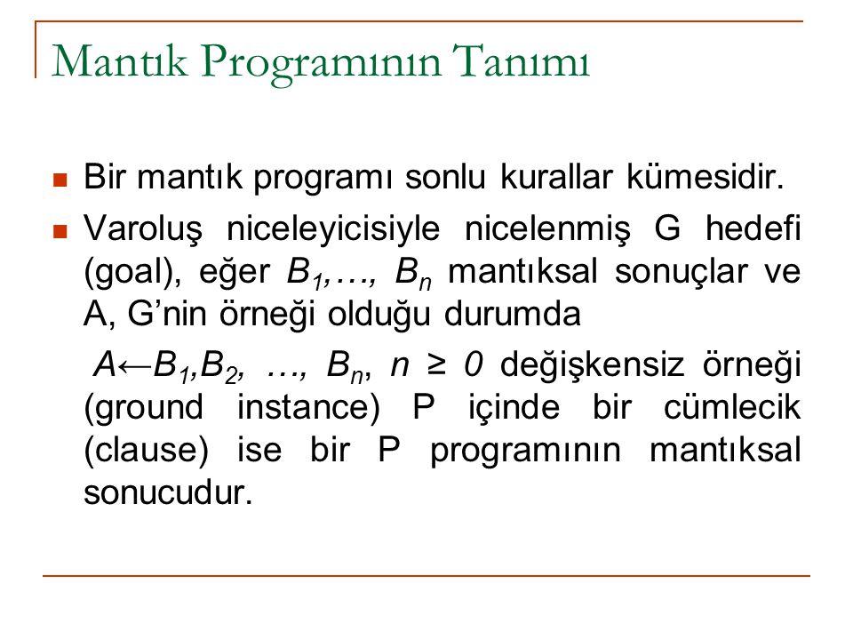 Mantık Programının Tanımı