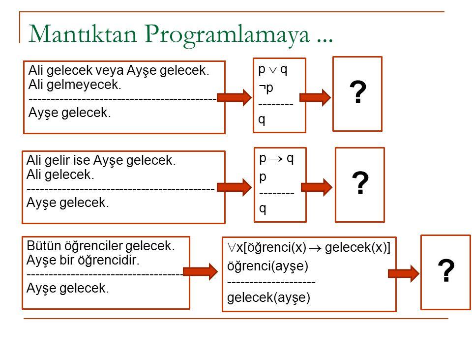 Mantıktan Programlamaya ...