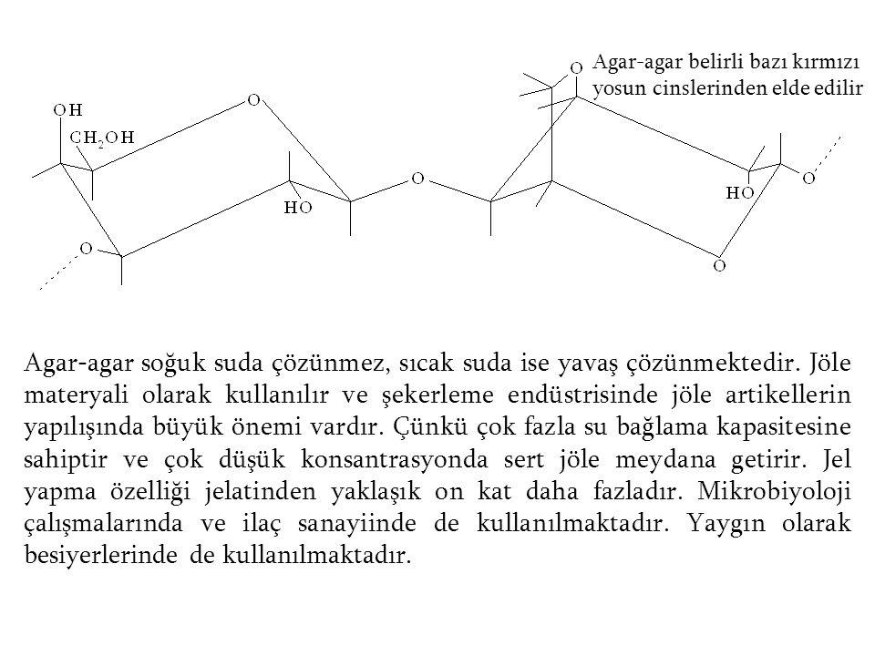 Agar-agar belirli bazı kırmızı yosun cinslerinden elde edilir