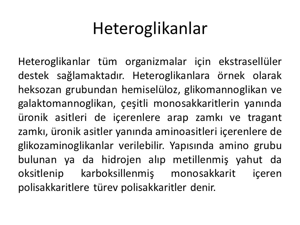 Heteroglikanlar