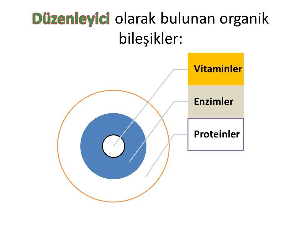 Düzenleyici olarak bulunan organik bileşikler: