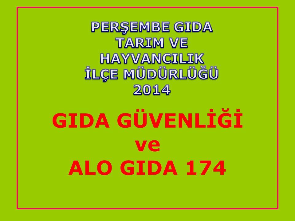 GIDA GÜVENLİĞİ ve ALO GIDA 174