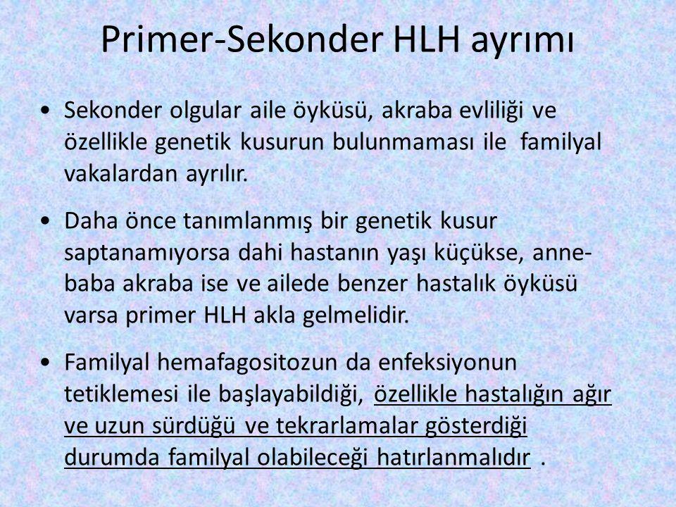 Primer-Sekonder HLH ayrımı