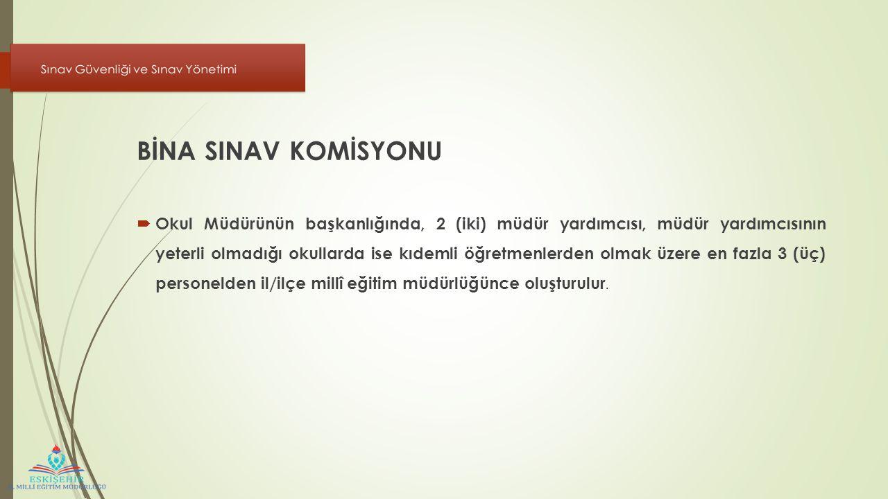 BİNA SINAV KOMİSYONU