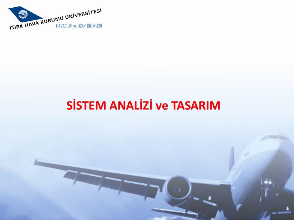 SİSTEM ANALİZİ ve TASARIM