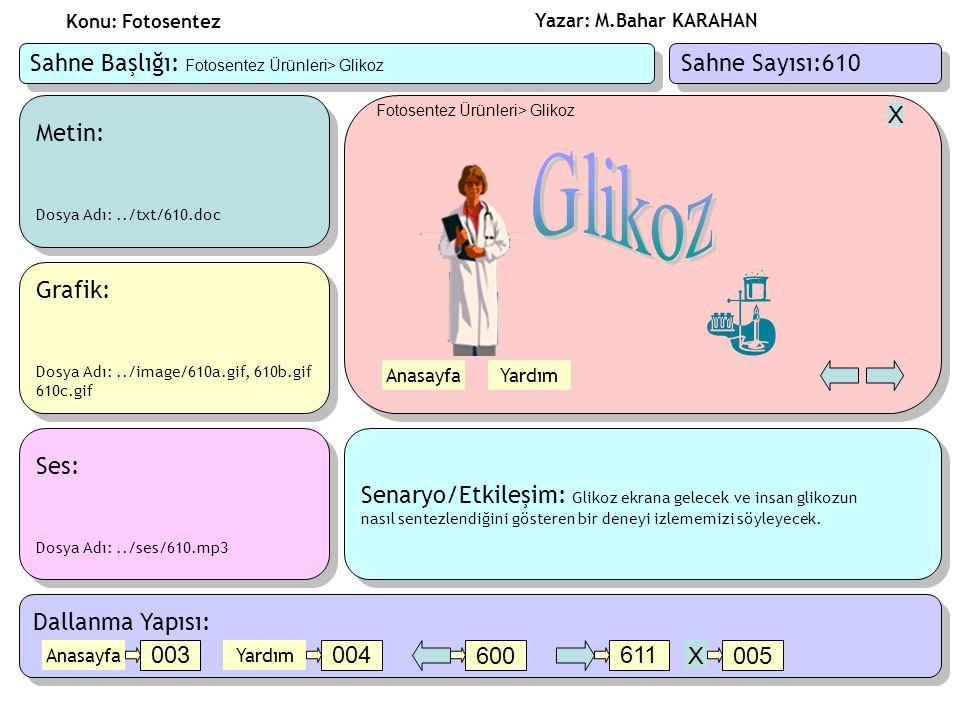 Glikoz Sahne Başlığı: Fotosentez Ürünleri> Glikoz Sahne Sayısı:610