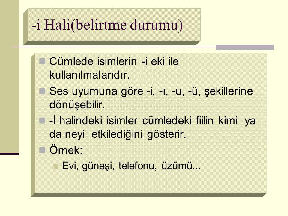 -i Hali(belirtme durumu)