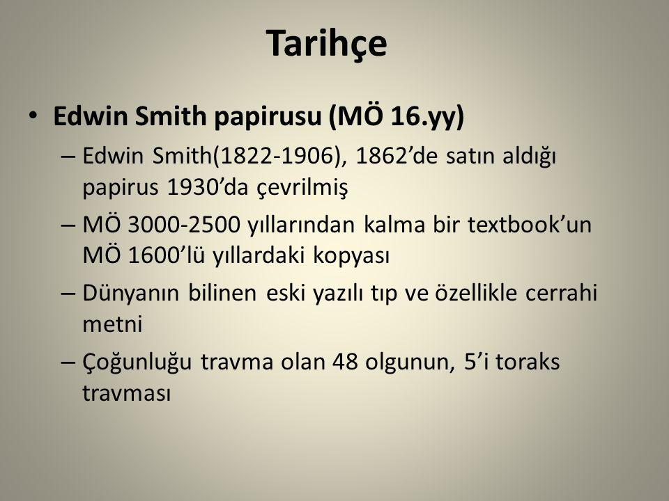 Tarihçe Edwin Smith papirusu (MÖ 16.yy)