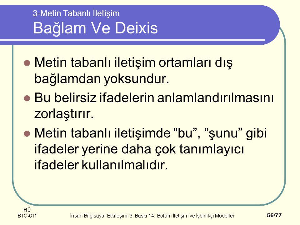 3-Metin Tabanlı İletişim Bağlam Ve Deixis