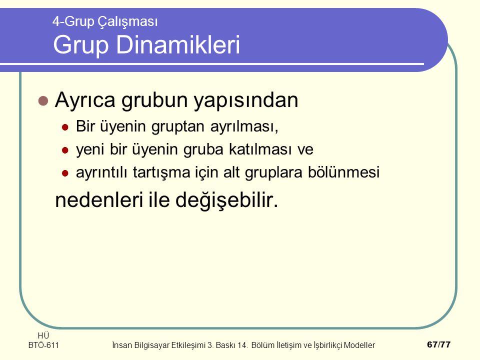 4-Grup Çalışması Grup Dinamikleri