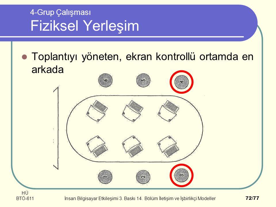 4-Grup Çalışması Fiziksel Yerleşim