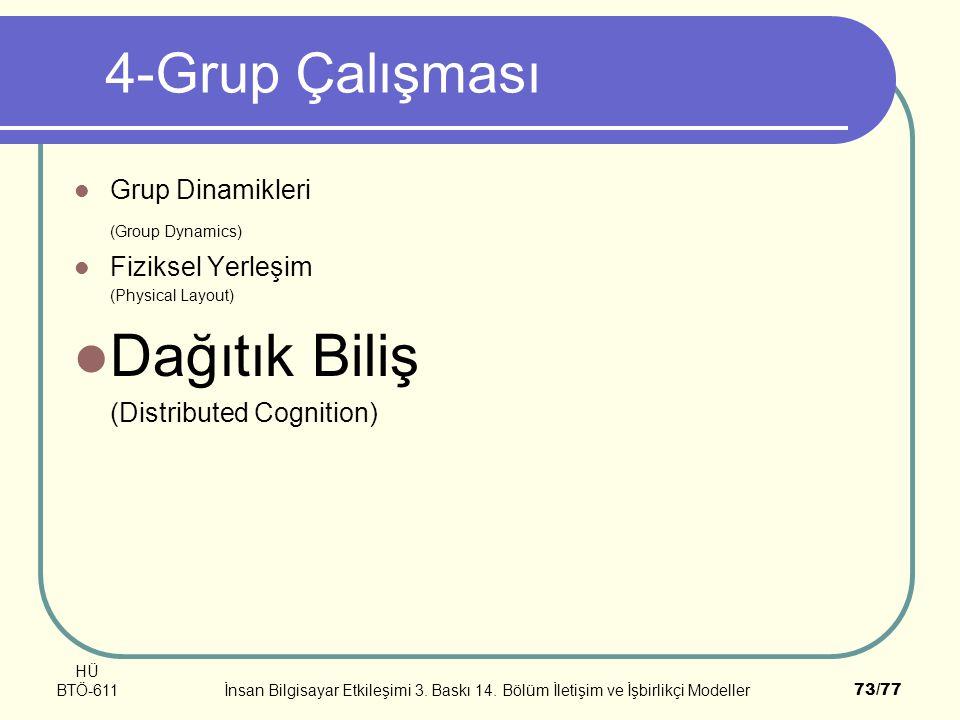 Dağıtık Biliş 4-Grup Çalışması Grup Dinamikleri (Group Dynamics)