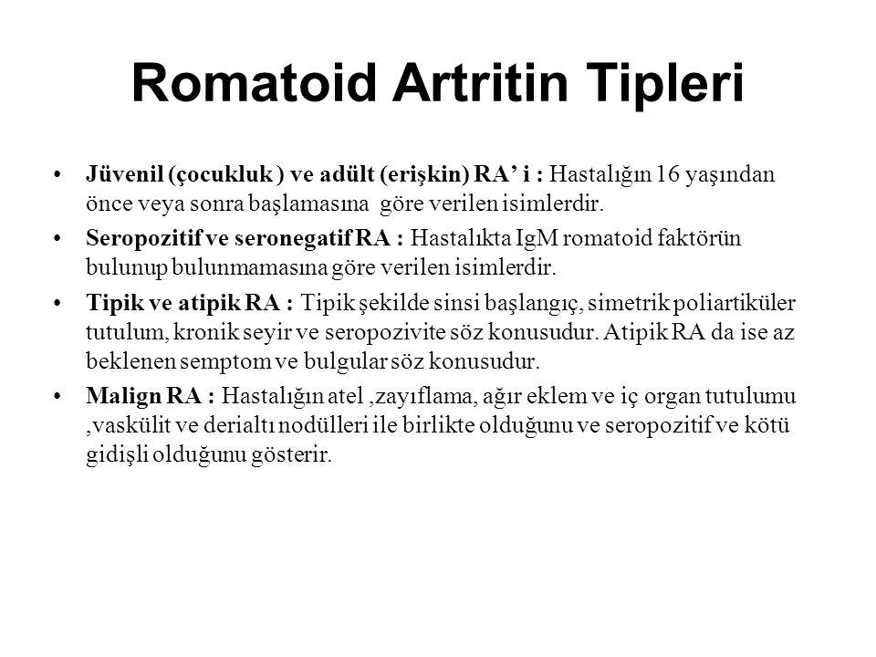 Romatoid Artritin Tipleri