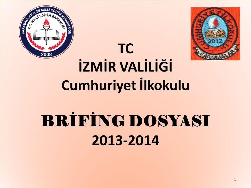 TC İZMİR VALİLİĞİ Cumhuriyet İlkokulu BRİFİNG DOSYASI 2013-2014