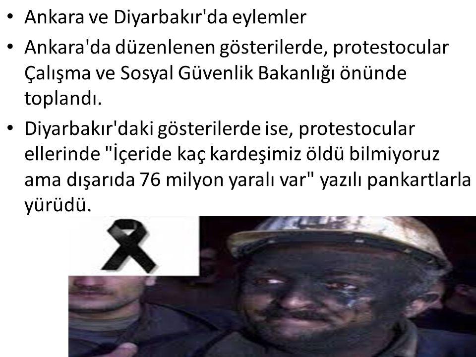 Ankara ve Diyarbakır da eylemler