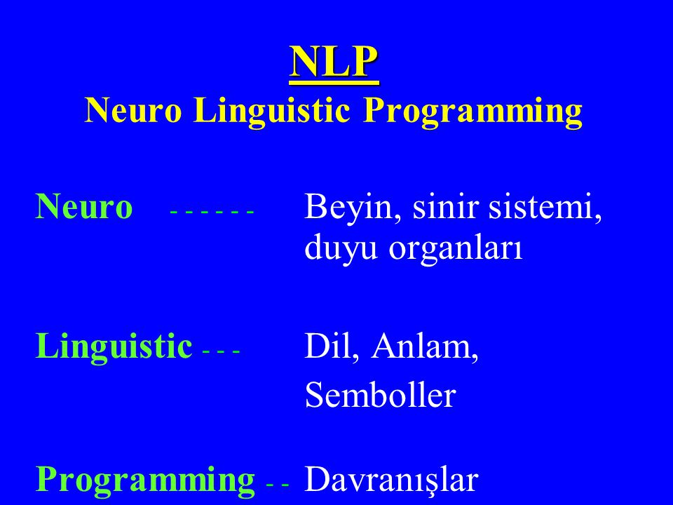 NLP Neuro Linguistic Programming