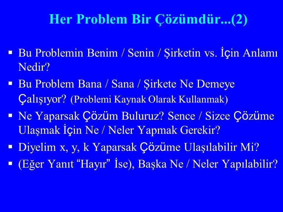 Her Problem Bir Çözümdür...(2)