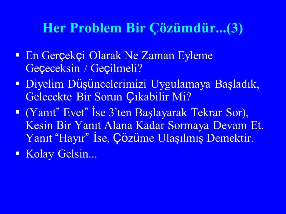 Her Problem Bir Çözümdür...(3)