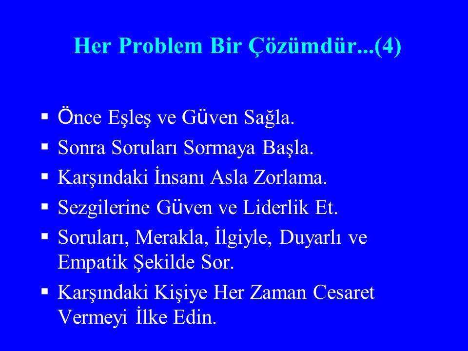Her Problem Bir Çözümdür...(4)