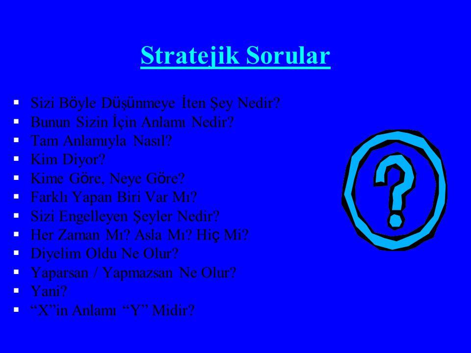 Stratejik Sorular Sizi Böyle Düşünmeye İten Şey Nedir
