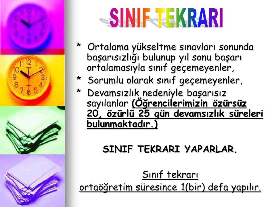 SINIF TEKRARI YAPARLAR.