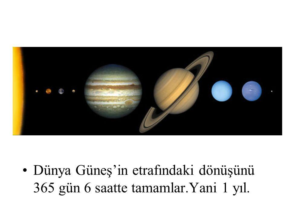 Dünya Güneş'in etrafındaki dönüşünü 365 gün 6 saatte tamamlar