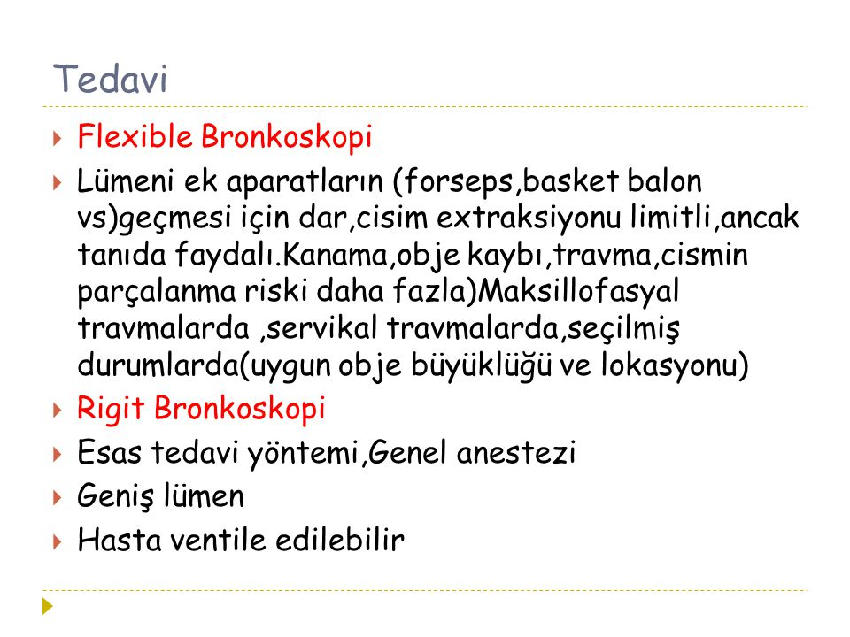 Tedavi Flexible Bronkoskopi