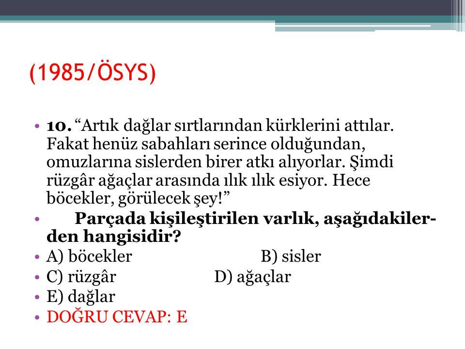 (1985/ÖSYS)