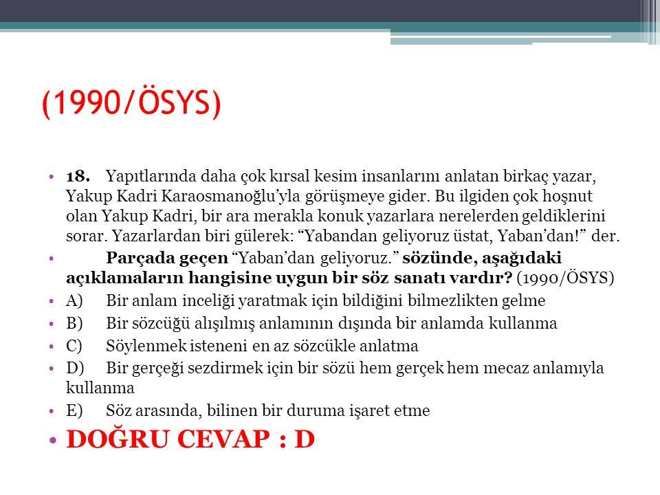 (1990/ÖSYS)