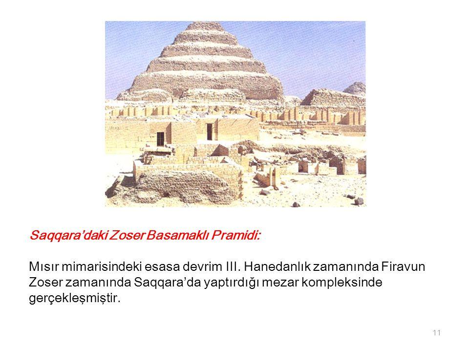 Saqqara'daki Zoser Basamaklı Pramidi: