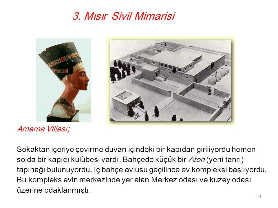 3. Mısır Sivil Mimarisi Amarna Villası;