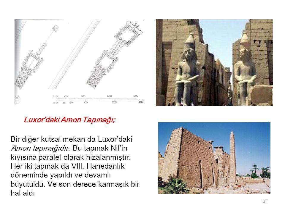 Luxor'daki Amon Tapınağı;