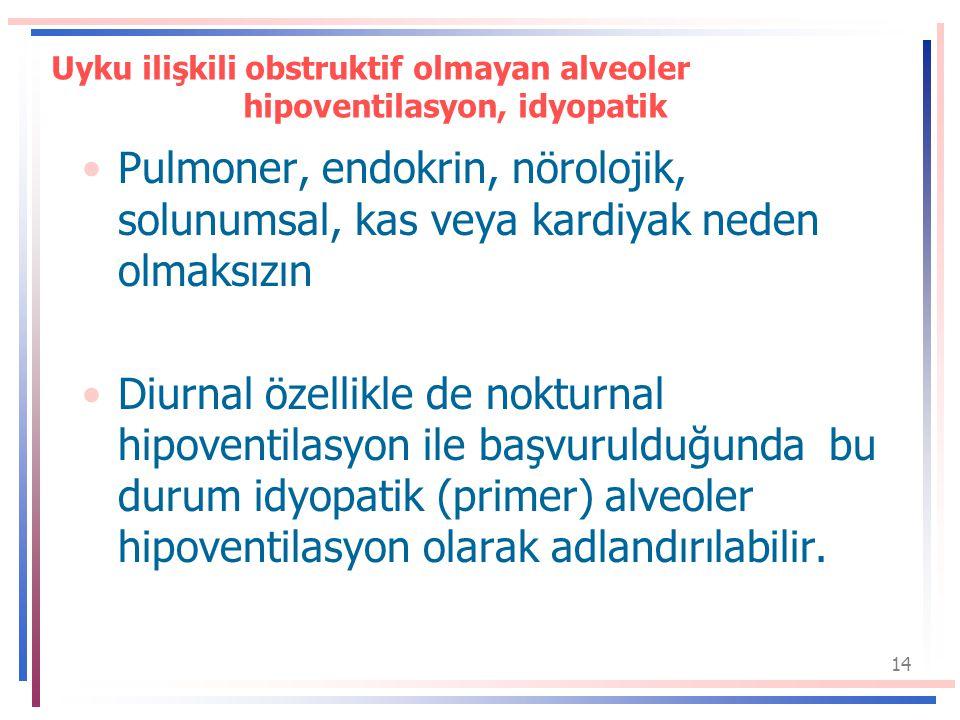 Uyku ilişkili obstruktif olmayan alveoler hipoventilasyon, idyopatik
