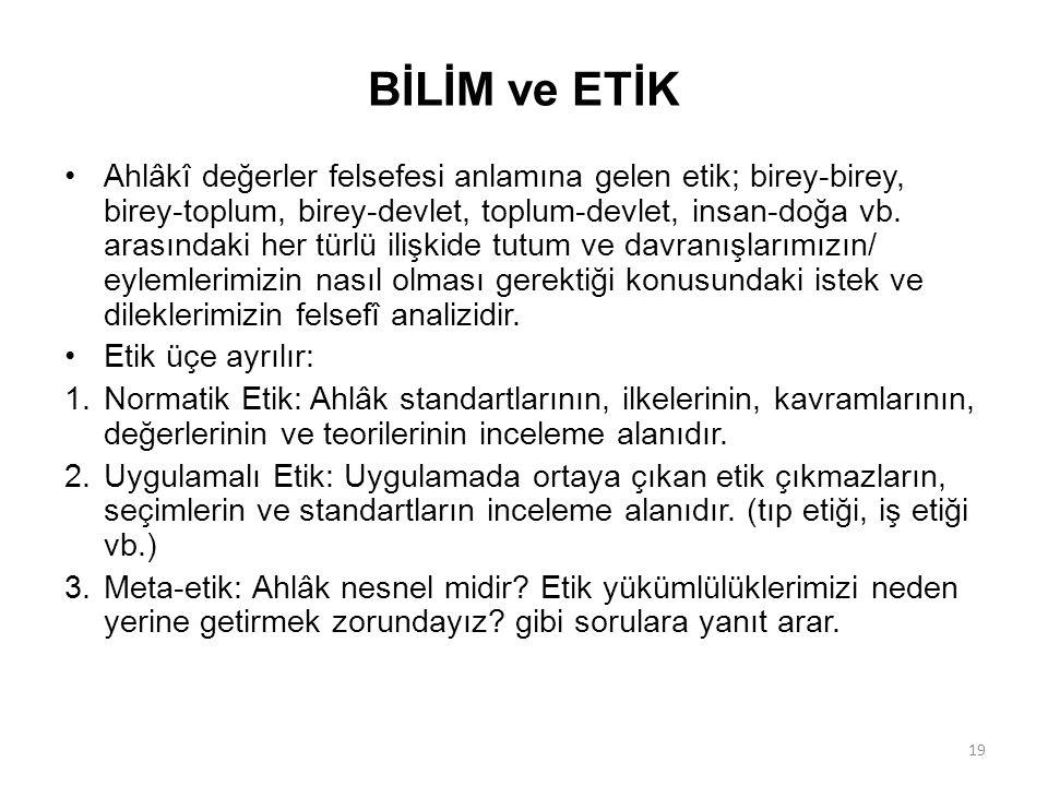 BİLİM ve ETİK