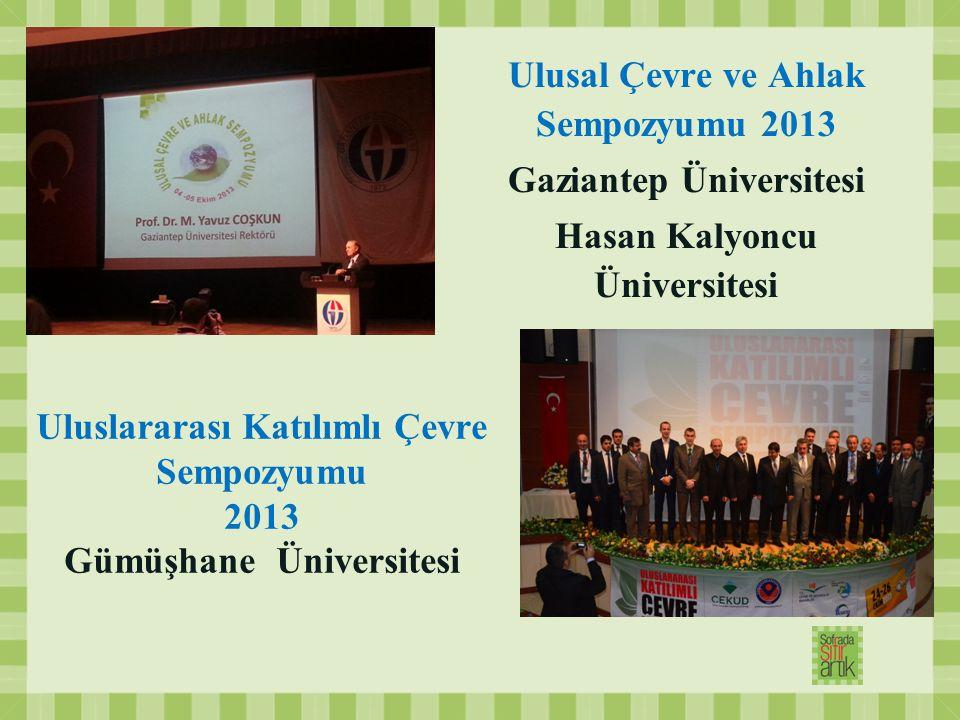 Ulusal Çevre ve Ahlak Sempozyumu 2013 Gaziantep Üniversitesi