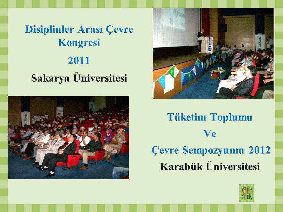 Disiplinler Arası Çevre Kongresi 2011 Sakarya Üniversitesi