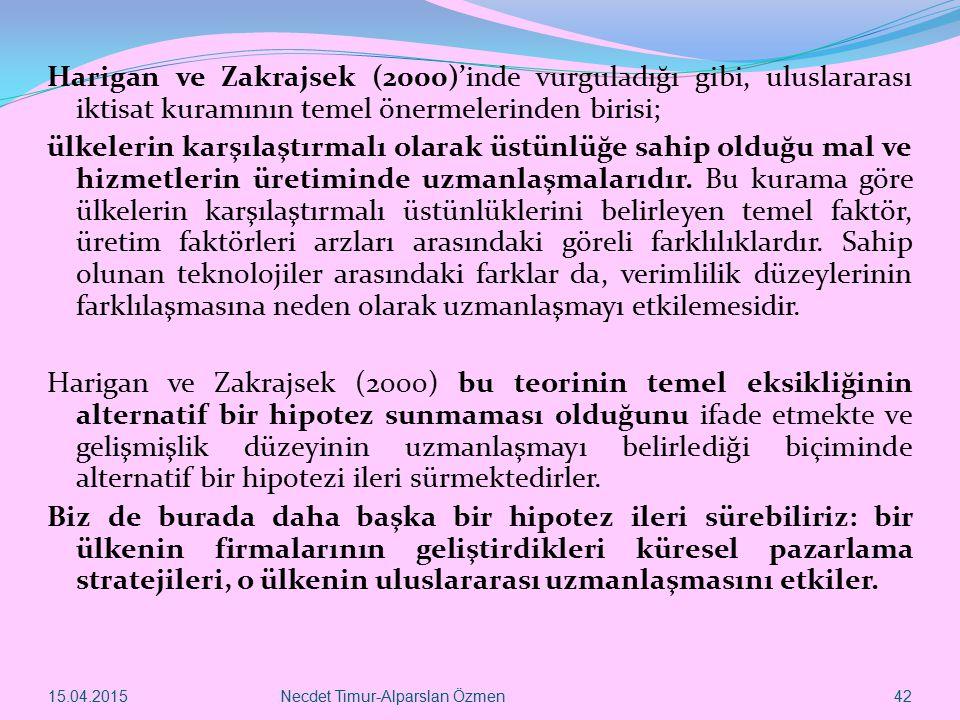 Harigan ve Zakrajsek (2000)'inde vurguladığı gibi, uluslararası iktisat kuramının temel önermelerinden birisi;