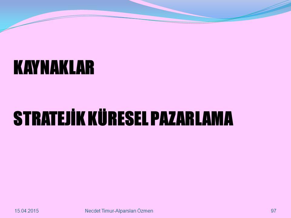 STRATEJİK KÜRESEL PAZARLAMA