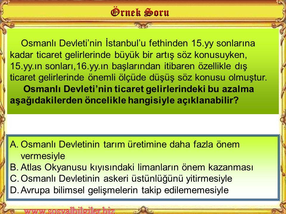 Osmanlı Devleti'nin İstanbul'u fethinden 15