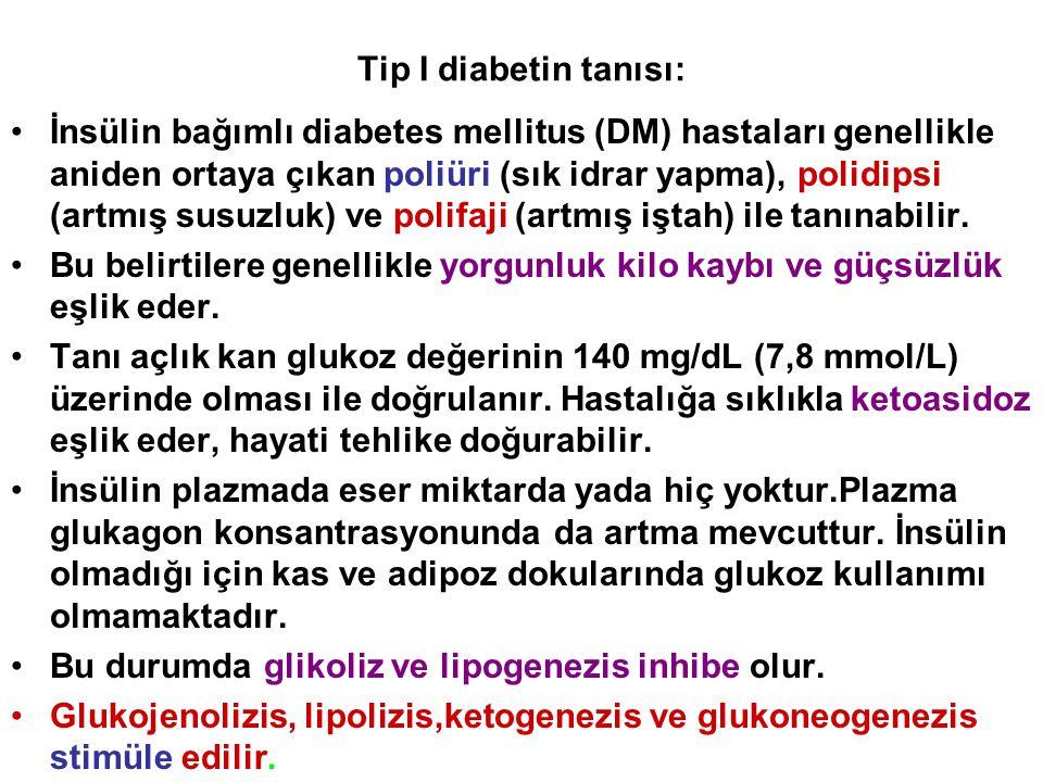 Tip I diabetin tanısı: