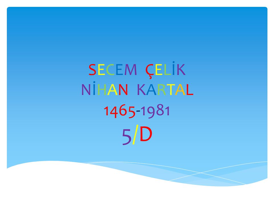 SECEM ÇELİK NİHAN KARTAL 1465-1981 5/D