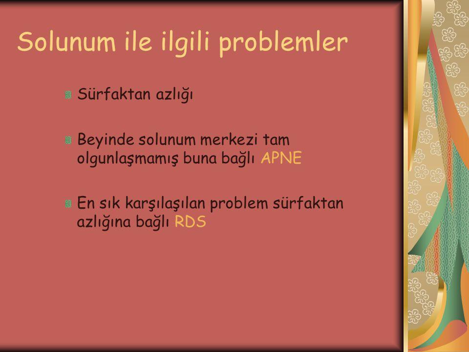 Solunum ile ilgili problemler