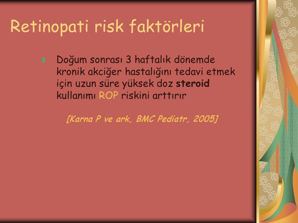 Retinopati risk faktörleri