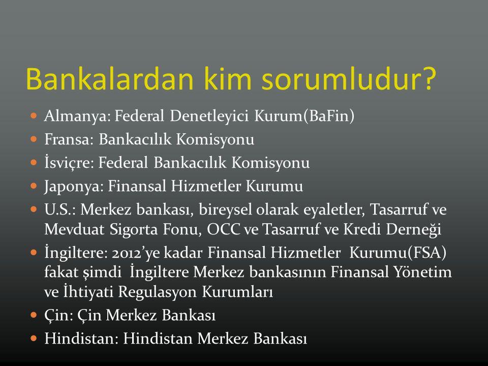 Bankalardan kim sorumludur