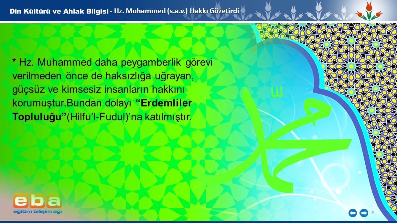 - Hz. Muhammed (s.a.v.) Hakkı Gözetirdi