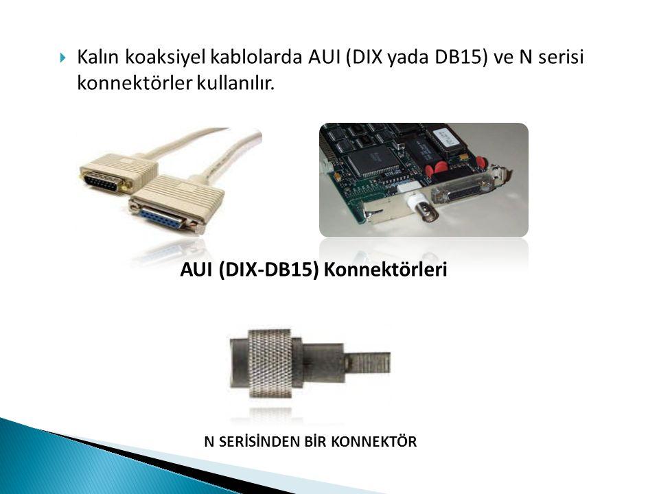 AUI (DIX-DB15) Konnektörleri
