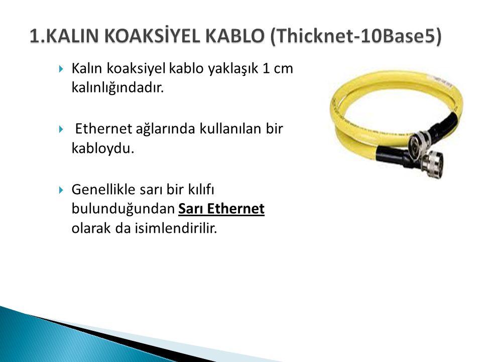 1.KALIN KOAKSİYEL KABLO (Thicknet-10Base5)