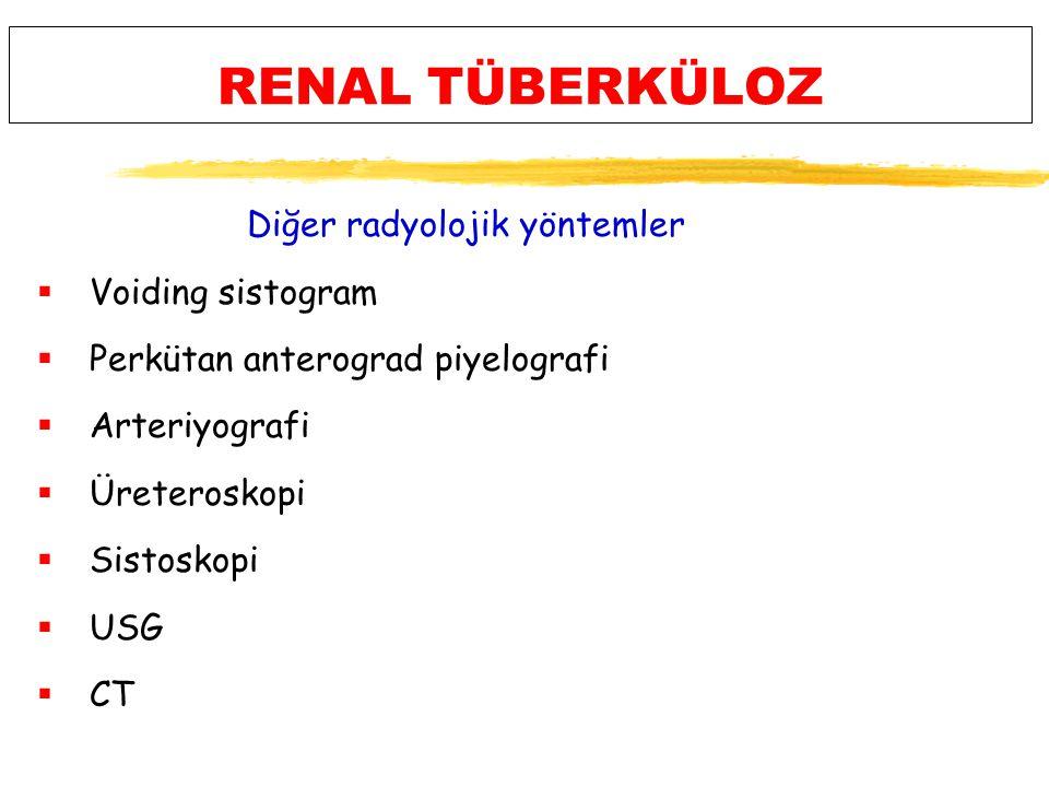 RENAL TÜBERKÜLOZ Diğer radyolojik yöntemler Voiding sistogram